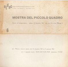 1961 Catalogo mostra EIDAC,Milano