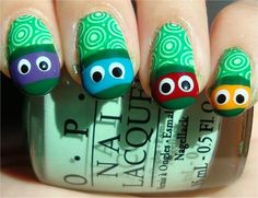 Teenage Mutant Ninja Turtles Nail Art Tutorial & Pictures