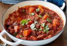 Em Rusciano's beef casserole with sweet potato and chickpeas recipe - 9Kitchen