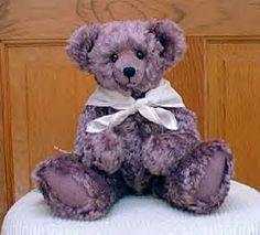 Purple Mohair Teddy Bear