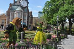 Beauty and Beast topiary