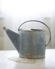 zinc watering can by sadieolive on Etsy, $39.00