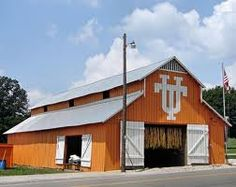 Big Orange Barn ~ With University of Tennessee Logo. Probably somewhere around Knoxville, Tennessee. It is in Orlinda Tennessee about 200 miles west of Knoxville. Tn Vols Football, Tennessee Volunteers Football, Tennessee Football, Tennessee Girls, East Tennessee, Tennessee Waltz, Vol Nation, Ut Longhorns, Orange Country