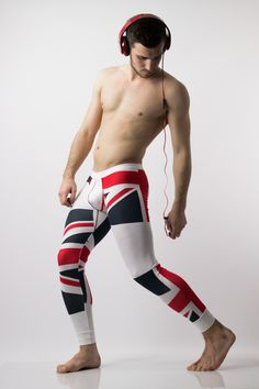 UK Flag Leggings for men