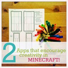 2 must-have #Minecraft #apps (besides Minecraft!) that encourage creativity! #minecraftmamas
