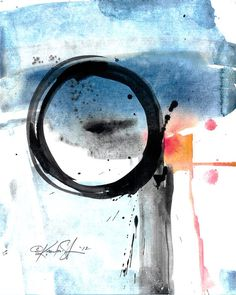 Enso Abstraction Series  113  Original Zen by KathyMortonStanion