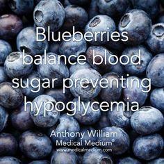 Blueberries balance blood sugar preventing hypoglycemia