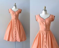 r e s e r v e d...vintage 40s dress / cotton 1940s by DearGolden, $124.00