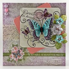 Beautiful Butterfly Card by Candy S. - Cards and Paper Crafts at Splitcoaststampers
