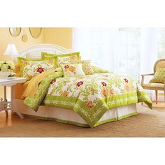 Better Homes and Gardens Citrus Blossoms Damask