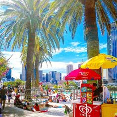 Another Splendid Sunny day in ! With bright blue skies and nice warm weather, it's the perfect time for a Swim in ! Brisbane City, Spring Hill, Sunny Days, Warm Weather, Swimming, Vibrant, Australia, Sky, Blue Skies