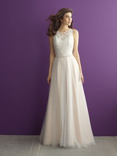 What do you get when you add an A-line tulle skirt to a lace bodice? The result is oh-so-pretty // Allure Romance 2953