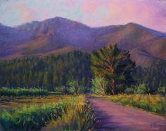 Evening Below Hood Mountain 11x14 Pastel -- Joe Mancuso