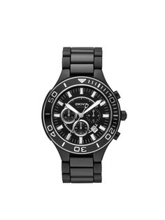 DKNY Stainless Steel/Black Ceramic Round Sport Chrono. Think it would look better in white.