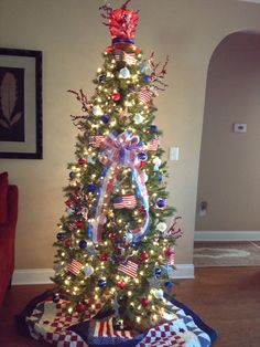 My Patriotic Christmas Tree..
