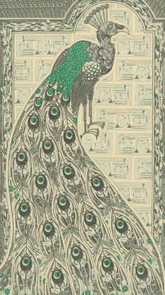 Peacock   mark wagner - currency art
