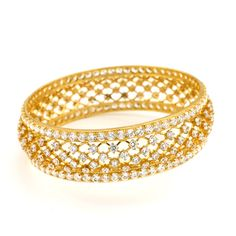 GRT | Collections | Gold | Bangles | Diamond Finish Bangle