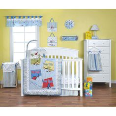 "Trend Lab Dr. Seuss One Fish Two Fish 6-Piece Crib Bedding Set - Blue - Trend Lab - Babies ""R"" Us"