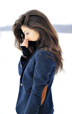 classy jacket + haircolor perfection