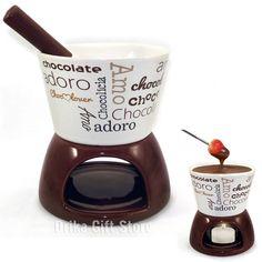 "Confira aqui - Mini Fondue de Porcelana ""Chocolovers"" - Drika Gift Store"