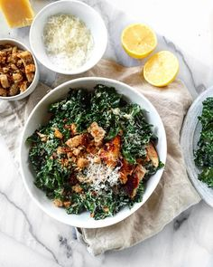 we cannot get enough of this kale caesar!! seriously we've been eating it at least once a week. I make homemade croutons, we add chicken and use my greek yogurt caesar dressing (4 garlic cloves, 3 tablespoons greek yogurt, 2 tablespoons parmesan cheese, 1 tablespoon dijon mustard, 2 teaspoons red wine vinegar, 1 teaspoon anchovies paste, salt, pepper, 1/2 lemon, juiced and 1/2 cup olive oil -> blend!). try it!!
