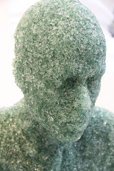 Shattered glass sculptures by Daniel Arsham