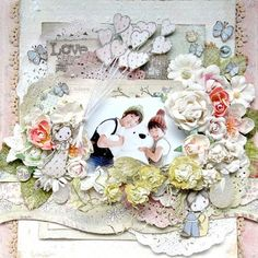 Layout by Maiko Kosugi for Prima using Jack and Jill collection and flowers