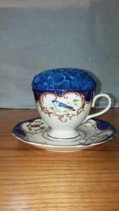 Teacup pincushion made for my tea drinking quilting buddies.