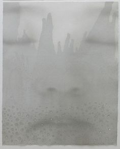 Lin Tianmiao (Chinese, b.1961)  	Lithograph on pigment stained STPI handmade paper with handmade holes  	SIZE:  	h: 50 x w: 40 in / h: 127 x w: 101.6 cm