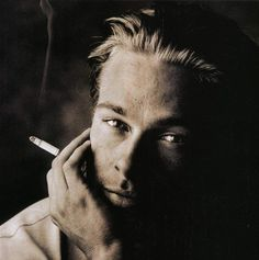 Brad Pitt....I have this picture but without the cig in hand...autographed by him!