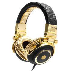 auriculares negro y dorado - Buscar con Google