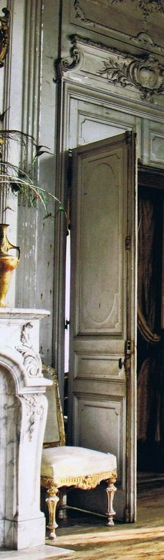 Splendid Sass: GRAY LOVE ~ Part 3 -  This is a pin loaded with photos, but this one stole my heart . . . love the door hardware, which looks like it came from France.  Yes, please -  djc