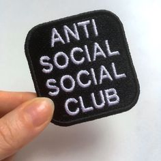 Anti Social Social Club patch. Machine embroidery. Sew-on, iron on or pin. ============================ READY TO SHIP IN 3-5 BUSINESS DAYS. SHIPPING FROM RUSSIA TO ANOTHER COUNTRY USUALLY TAKES ABOUT 2-5 WEEKS (SOMETIMES LESS OR MORE). While choosing a payment option, please, select PayPal. PayPay allows you to make a payment using debit/credit card....