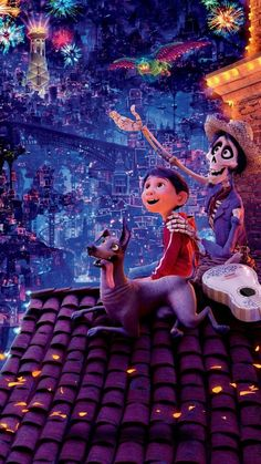 Have you already seen coco? It's such a beautiful film, I was amazed by the music, the animation, every single detail, the way they represented the mexican culture and the. Heros Disney, Disney Films, Disney Cartoons, Disney And Dreamworks, Disney Magic, Disney Amor, Cute Cartoon Wallpapers, Movie Wallpapers, Iphone Wallpapers
