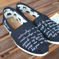 Demi Lovato Skyscraper quote TOMS shoes
