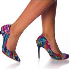pantofi-dama-verene-multico Louboutin Pumps, Christian Louboutin, Stiletto Heels, Casual, Shoes, Fashion, Moda, Zapatos, Shoes Outlet