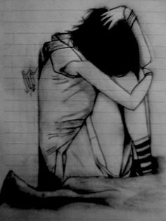 sad drawings lonely pencil easy drawing sketches google depression deviantart deep kr silkroad forums face stuff emo