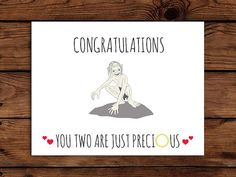 Lord of the Rings Wedding Card Printable // by SomebodyLovedShop, $2.00