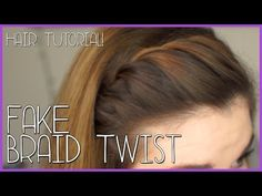 Fake Braid Twist Tutorial - Need your bangs out of your face? BrittanyBearPaws has the solution for you with this fake braid twist. Pretty and practical — what's not to love?
