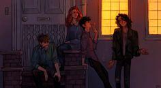 "artofpan: "" Sirius tells an anecdote outside the flat."