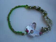 Κολιε με πετρες και πεταλούδα απο αλπακα