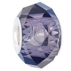 Ane Si Dora Sterling Silver Lilac Glass Charm