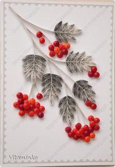 Открытка Новый год Квиллинг Мои открытки Бумага Бумажные полосы фото 3