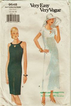 Retro Easy Vogue Pattern 9648 Bare Shoulder by harmonycollectibles