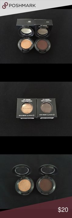 MAC Cosmetics Eyeshadows Authentic MAC Cosmetics Eyeshadows in: amberlights/embark. Both in original box: amberlights Brand New, embark in like new new condition; has been swatched but swiped clean. MAC Cosmetics Makeup Eyeshadow