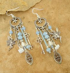 Chandelier Earrings Fairy Assemblage Earrings by BohoStyleMe