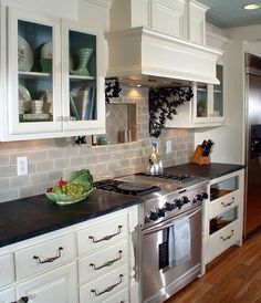 Love this Greige subway tile!