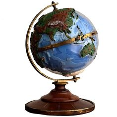 Italian 1960s 3D Globe   From a unique collection of antique and modern home accents at https://www.1stdibs.com/furniture/more-furniture-collectibles/home-accents/