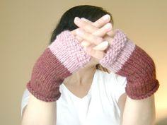 Free pattern: fingerless gloves