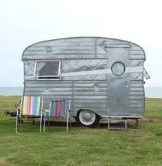 Great British retro trailer/writer's shed.
